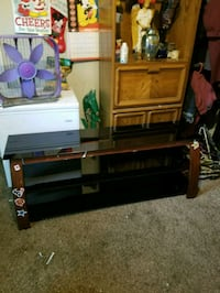 3 glass tv stand
