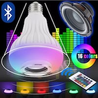 Smart Led Bulb With Bluetooth, Speaker & Remote 16 Colors! New! Great Gift Hollywood, 33021