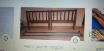 Twin bed frame and rails