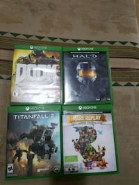four Xbox One game cases Windsor, N9A 1W6