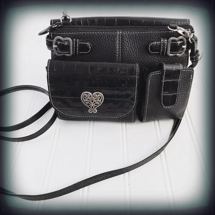 Brighton Leather Crossbody Wallet Bag