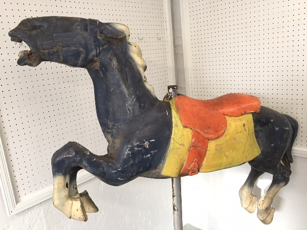Early 1900s CAROUSEL HORSE - Alan Herschell - Wood - Park Paint, black d44f1a72-552f-4ff9-b40e-d7623c38521e