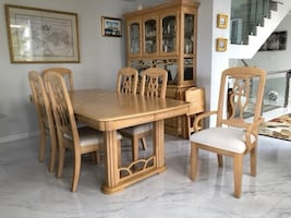 Dining room set -table-buffet-china cabinet