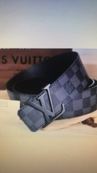 black and gray Louis Vuitton leather belt Los Angeles, 91367