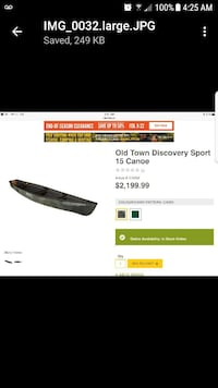 Brand new never used OLDTOWN DISCOVERY Camo Canoe