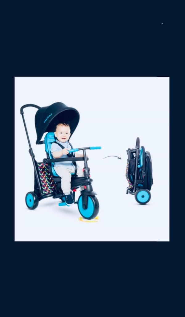 07285f67dca0 Used KIDS BIKE SMARTRIKE 6 in 1 FOLDING BIKE TRICYCLE 300 COMFORT BABY  INFANT STROLLER W  UMBRELLA CANOPY SMART TRIKE STROLLER BICYCLE NEW IN BOX!  for sale ...