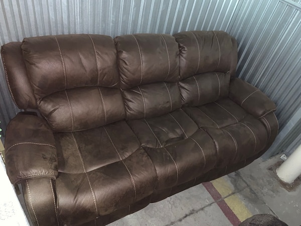 Leather suede sofa in excellent condition