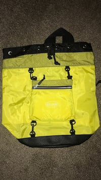 yellow and black leather tote bag Conway, 29526