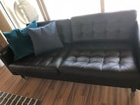 Tufted black leather sofa/purchased Jan 2018! West Vancouver, V7S 2C8
