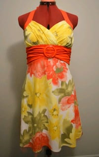 yellow and red floral dress - Large Montréal, H3B