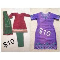 Pakistani Indian Suits $10 each