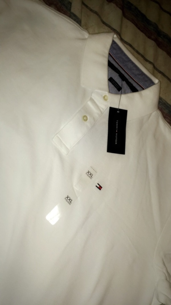 size XXL white Tommy Hilfiger polo shirt