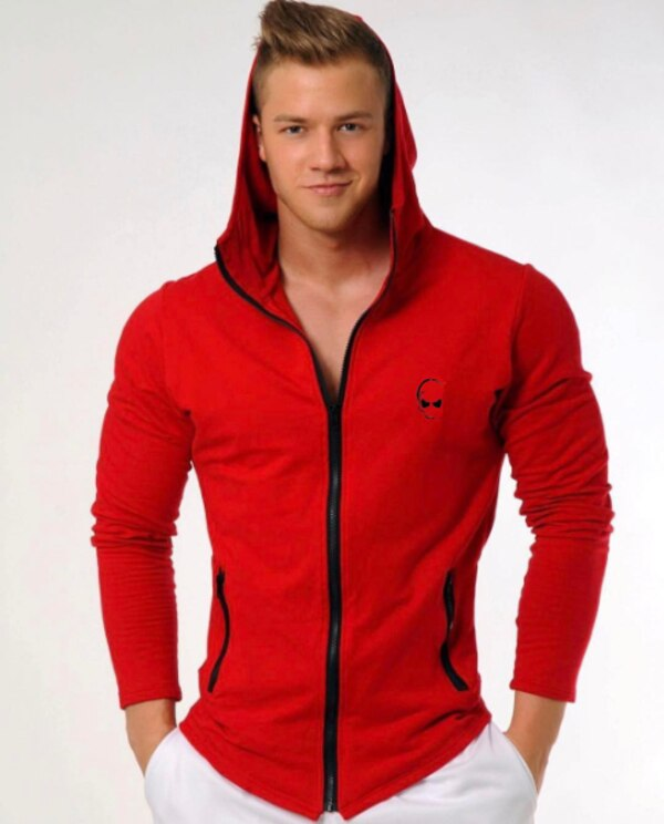 MUSCLE RANGER CAPTAIN FITNESS FULL ZIP HOODIE SWEATSHIRT  2