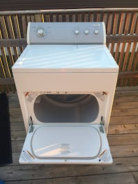 white front-load clothes dryer Brooks, T1R 1G1