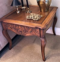Hekman Solid Walnut Country French End Table Simi Valley
