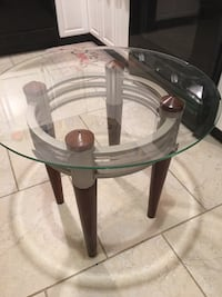 2- Glass Top End Tables