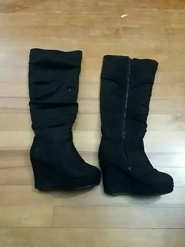 Black ardenes high heel boots