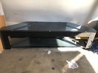 Glass & steel TV table And 55' TLC Smart TV Rockville, 20852