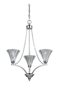 BNIB - Cora 3 Light Crystal Chandelier
