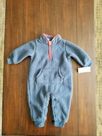 Carter's navy blue sherpa jumpsuit. Little Silver, 07739