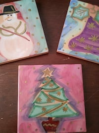 Starbucks Christmas Coasters