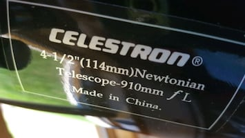 CELESTRON TELESCOPE AND STAND