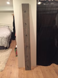 Light grey wood stain growth ruler chart Langley, V2Z 2H5