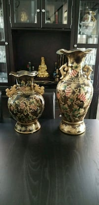 Two brown-and-white ceramic vases Vaughan, L6A 0T5