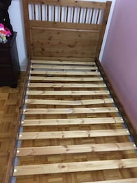 brown and white wooden bed frame Montreal, H3E 1E7
