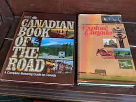 Two hard cover books from Readers Digest and CAA