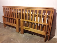 Wood Futon Frame and mattresses MILWAUKEE