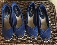 2 - Pairs if Blue Ralph Lauren peep toe pumps Manassas, 20109