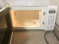 white and black microwave oven Toronto, M4C 5A2