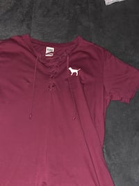 PINK t-shirt with lace up front  Langley, V2Z 1M6