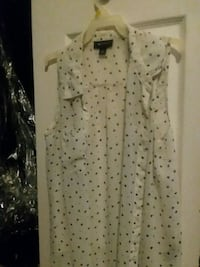 white and black polka dot dress shirt Blairsville, 30512