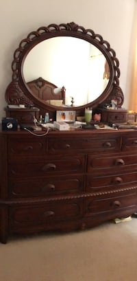Brown wooden dresser with mirror Lakewood Ranch, 34202