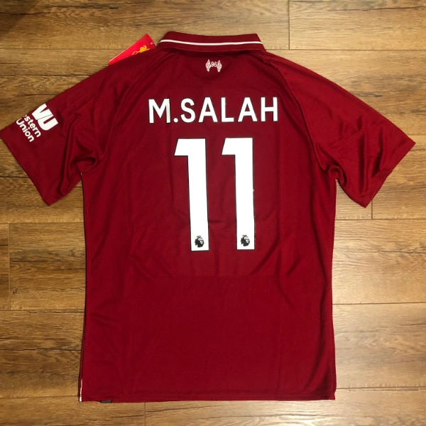Used NEW  2018 19 New Balance Mohamed Salah Liverpool Home Jersey ... fc0196dda