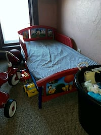 Mickey  mouse toddler bed with mattress  Wahpeton, 58075