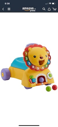 Fisher price 3 in 1 sit ride and stride lion toy Brampton, L6X 0E5