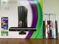 Fully Functioning XBOX 360 with KINECT Sensor, 2 Controllers with Charging Stand, 7 Games Mc Lean, 22101