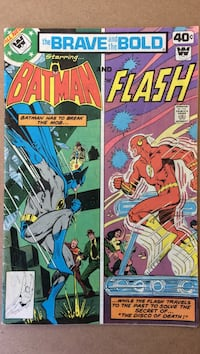 two Batman and Flash comic books Guelph