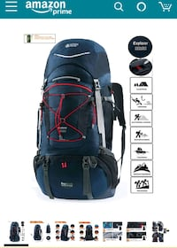 60L (+20L) backpacking backpack Sunnyvale, 94086