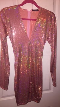 Custom made pink sparkly dress New York, 11221