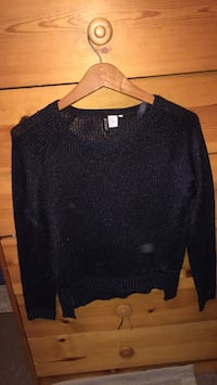 Dark blue and sparkly skin sweater shirt from H&M 3746 km