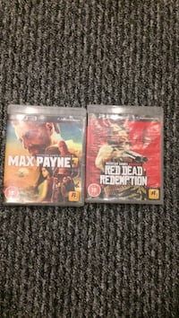 Max Payne 3 and Red Dead Redemption Sony PS3 game cases Hayes, UB4 0ND