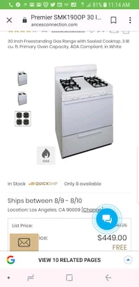 white and black gas range oven screenshot Los Angeles, 90047