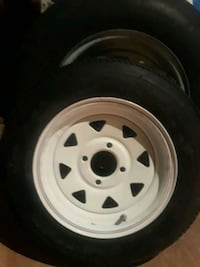 white 5-spoke car wheel with tire Slidell, 70458