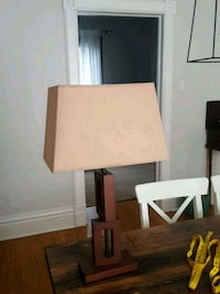 Wood base modern traditional accent table lamp Waterloo