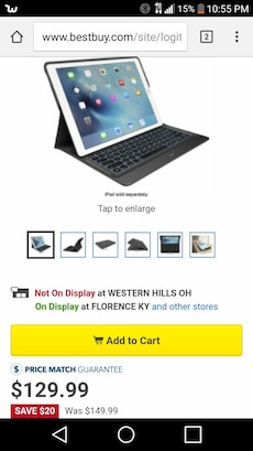 Logitech Backlit Case & Built-in Keyboard ipad Pro