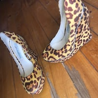leopard wedges Montreal